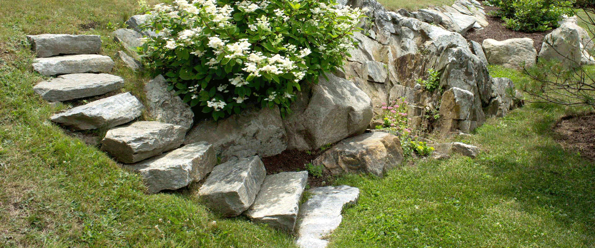 Stonework and pathways southern Maine