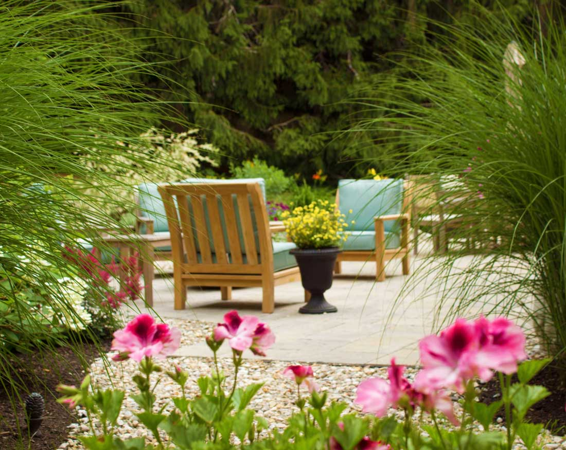 Patio for entertaining in Kennebunkport Maine