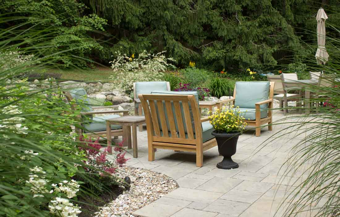 Maine patio landscaping