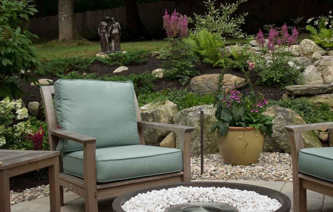 Sculpture as a garden focal point