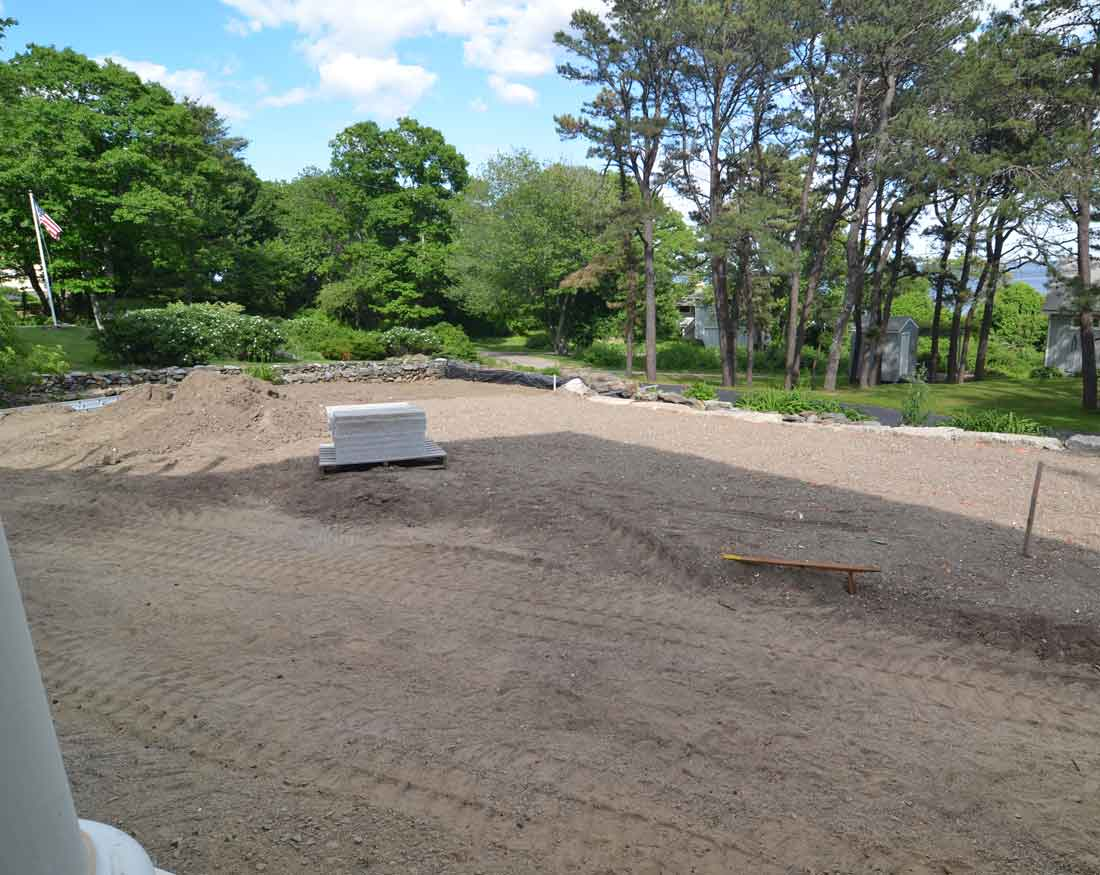 Rear of property finish grade over septic system