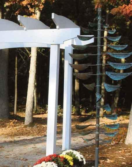 Wind sculpture in the Healing Garden