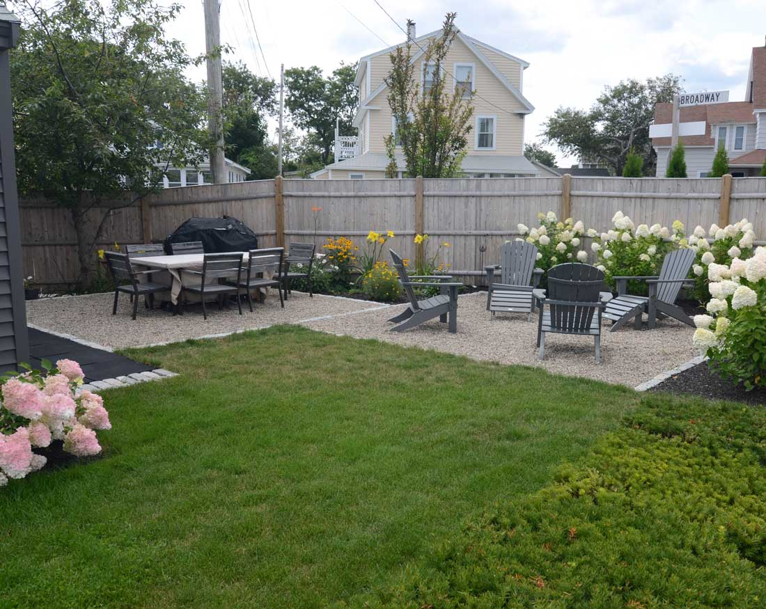 Creating a pocket garden and patio