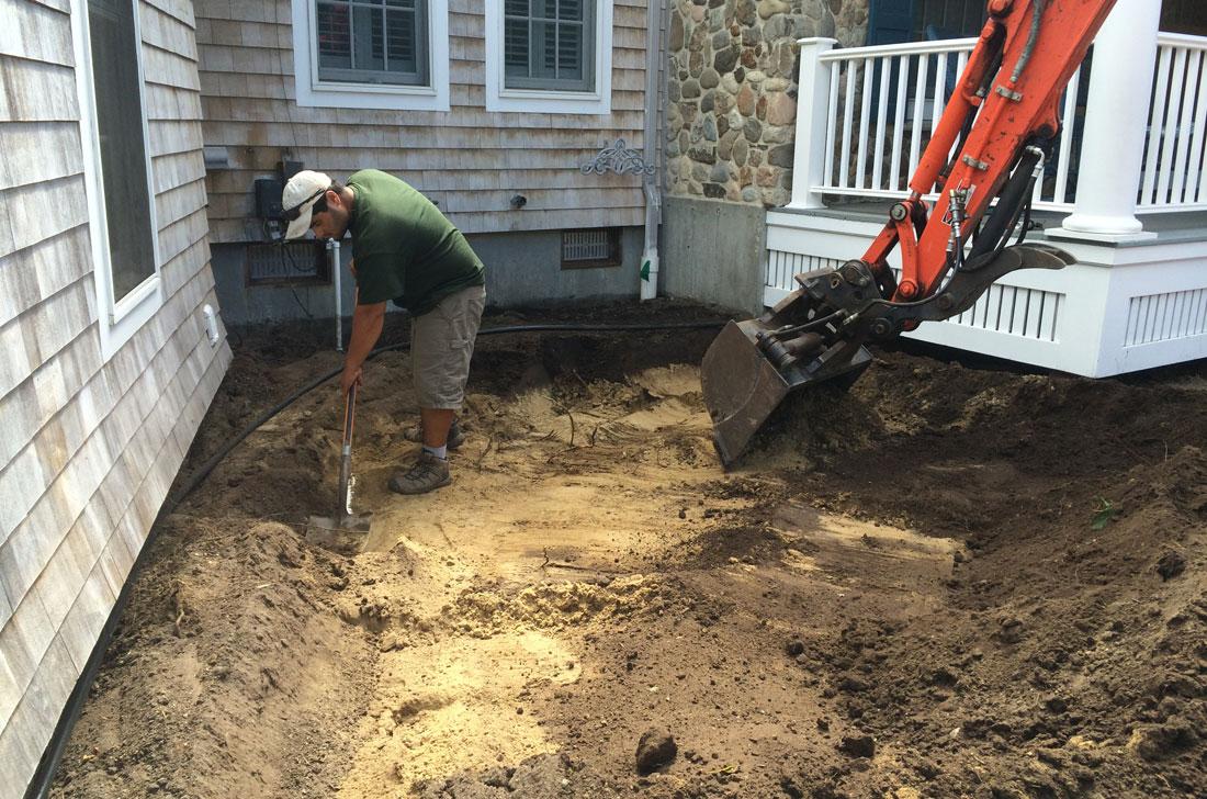 Preparing drainage