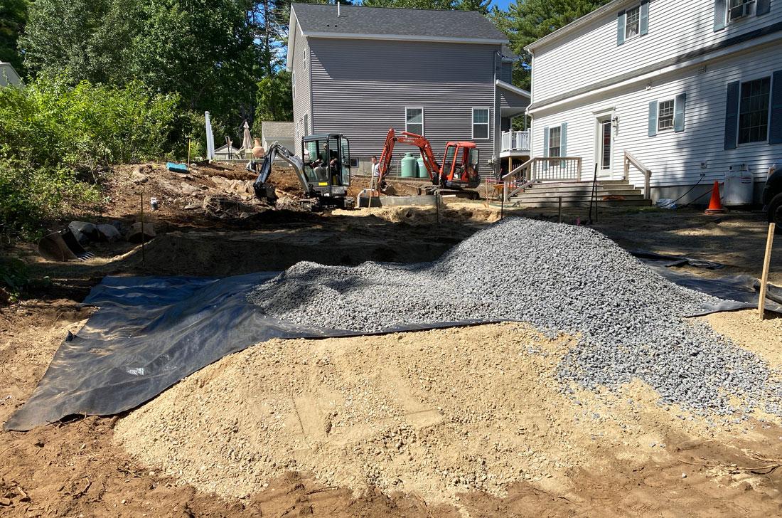Excavating the back yard