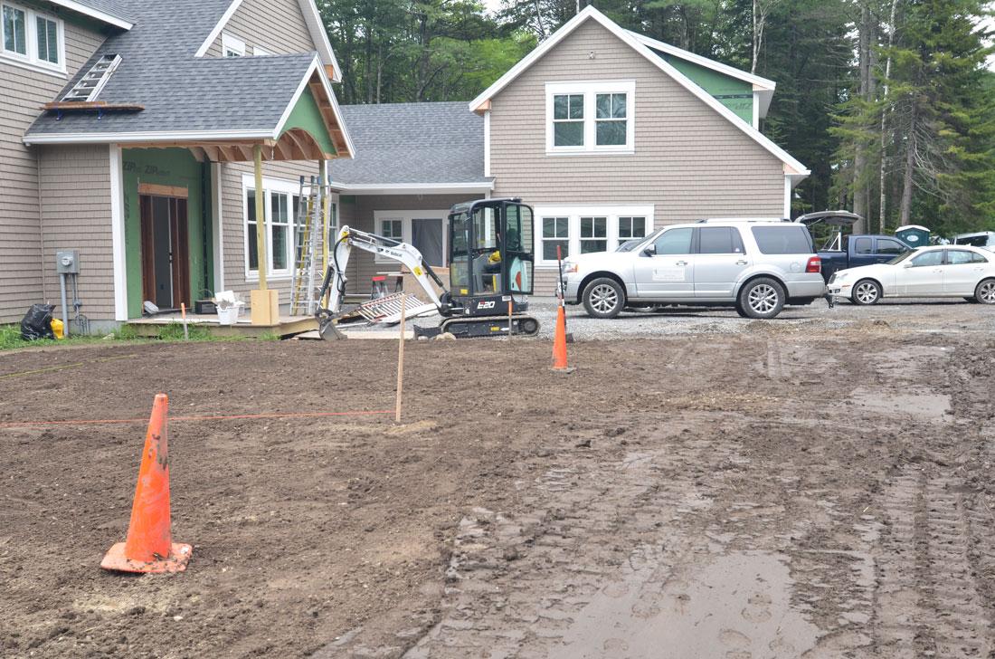 Front entrance excavation