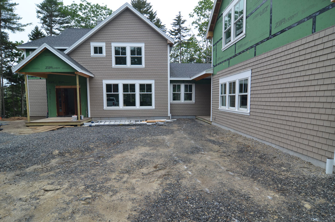 New home front entrance