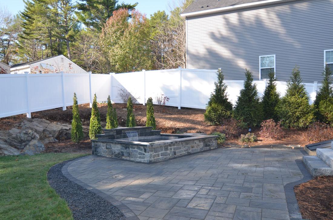 Landscape design to create an outdoor living area