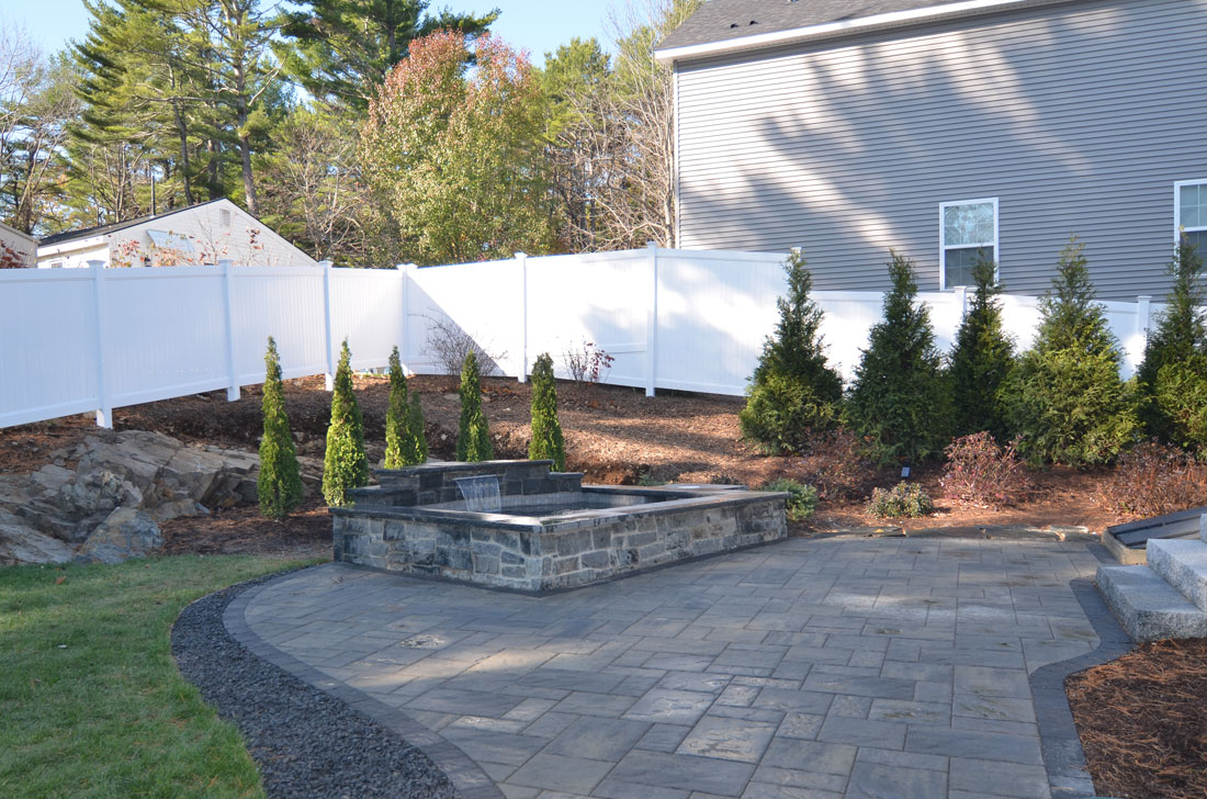 Landscaping for an outdoor living space