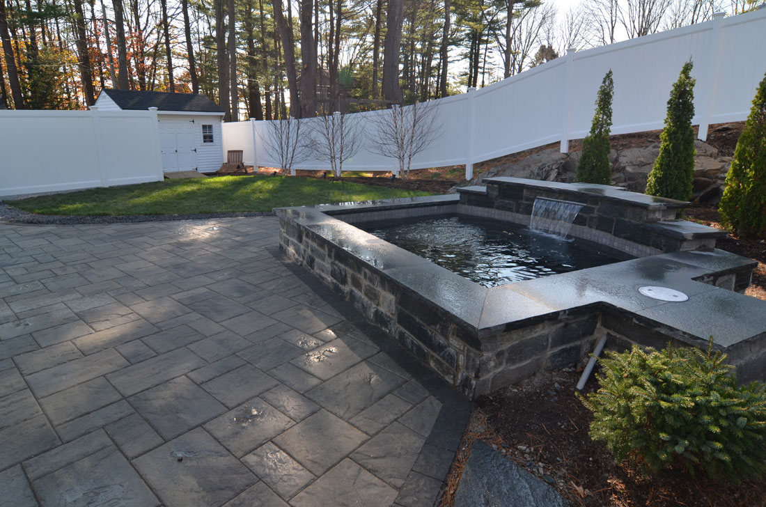 Patio and water feature