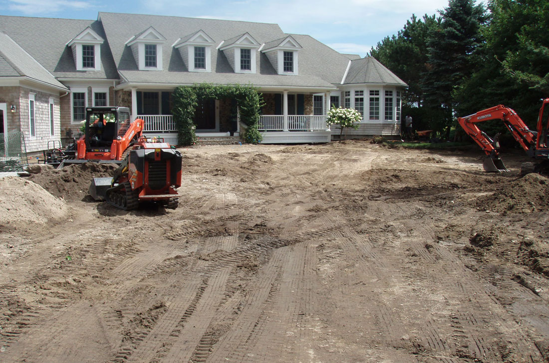 Plantings are transplanted with equipment