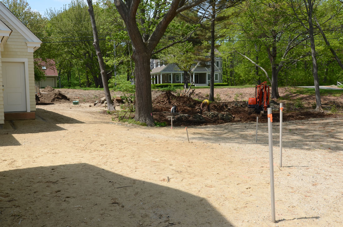 Rear view area to be graded